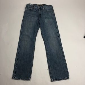 Mens 29×30 Levis 514 Slim Straight Jeans Blue Stra